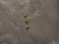 Pendente lungo con diamanti naturali gocce 0,09ct oro giallo diamond gold 0.09ct