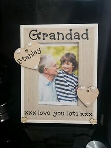 Personalised Grandad Photo Picture Frame Nan Grandparents Gift Any Wording