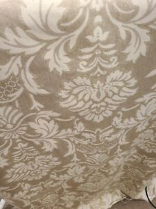 """Home Interior FABRIC 3.5 Yards X 54"""" Beautiful Cotton Beige and Grey  Design"""""""