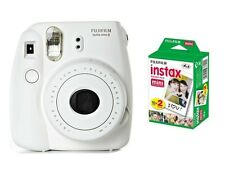 SPECIAL BUNDLE Fujifilm Instax Mini 8 White Instant Camera inc TWIN PACK 20 SHOT