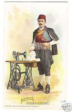 1892 Singer Sewing Machine Trade Card Bosnia (Austria-Hungary)