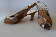 Melluso 38 bronze brown leather comfort dressy excellent Shoes Italy
