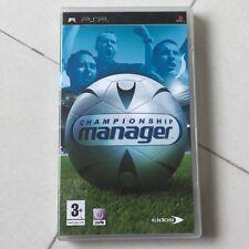 Preloved original PSP Championship Manager UMD cartridge