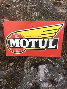 tole émaillée Motul Ancienne No Plaque Bidon Huile Vintage Castrol Déco Garage