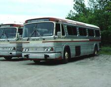 Hudson Bus Lines Gm Pd 4106 bus Kodachrome original Kodak Slide