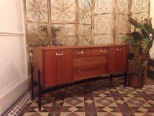 Mid century teak tola sideboard tv unit Nathan vintage modernist Danish style