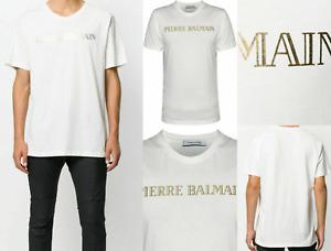 PIERRE BALMAIN MENS ICONIC LOGOSHIRT CULT OFF-WHITE LOGO SHIRT T-SHIRT NEW WOW M