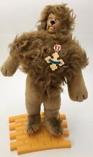 Vintage Turner Presents Wizard Of Oz Cowardly Lion Doll Yellow Brick Road Stand