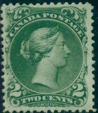 CANADA #24 2¢ green, unused regummed, Scott $850.00