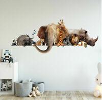 Elephant Wall Decal Mural Art Safari Wildlife Africa Tusks Animals Animal c08