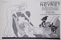 PUBLICITÉ PRESSE 1934 NEYRET LE SOUS-VÊTEMENT FRANÇAIS INDÉMAILLABLE - CANICHE