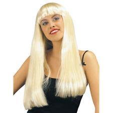 BLONDE PERÜCKE FASHION lang blond Langhaar Perrücke Wig