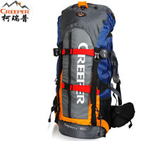 60L Professional Waterproof Backpack Climbing Camping Hiking Mountaineering Bags