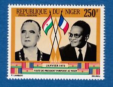Niger 1972 airmail President Pompidou visita presidente Francia France MNH**nuov