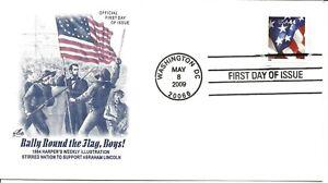 US Scott #4395, First Day Cover 5/8/09 Washington Single Flag