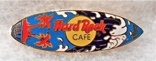 HARD ROCK CAFE BALI BLUE SURFBOARD RED PALM TREES BLUE & WHITE WAVE PIN # 79203