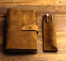 Vintage gift Diaries Journals notebook genuine leather brown handmade D0522