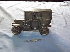 VINTAGE 1908 BANTHRICO OLD METAL CAR BANK WITH KEY