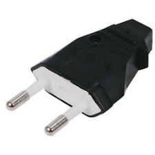 2 Pin Mains Europlug Suits most European Sockets  (Not UK)