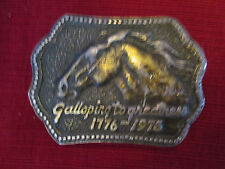 Galloping To Greatness 1776-1976 Belt Buckle Shell Horse Products Metal