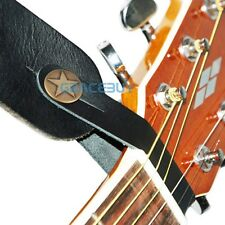 Genuine Leather  Guitar Strap Button for Acoustic / Folk / Classic Guitar Black
