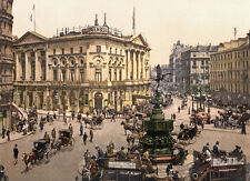 "PS47 Vintage 1890's Photochrom Photo Piccadilly Circus London - Print A3 17""x12"""