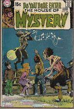 HOUSE OF MYSTERY #186 DC COMICS 12/70 BERNI WRIGHTSON ART NEAL ADAMS ART/CVR VG