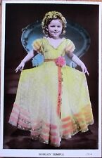 Shirley Temple 1930s Realphoto Movie Star Postcard - Hand Colored, Fancy Dress