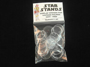 STAR WARS ACTION FIGURE DISPLAY STAND FOR VINTAGE FIGURES CLEAR X 50 - T1c