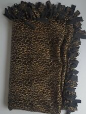 "Plush Animal Print Fleece Throw Blanket Flat Flanges 48"" x 60"" Plush  Bedding"