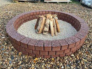 Round Fire pit 120 cm granite fire place Garden Patio BBQ Garden Decor Copper !