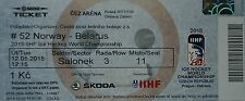 mint TICKET Eishockey WM 12.5.2015 Norwegen - Weißrussland in Ostrava