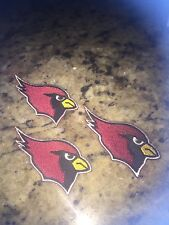 (3) LOT ARIZONA CARDINALS IRON ON PATCHES 3 inch