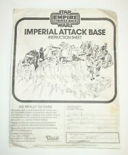 Star Wars Vintage Hoth Imperial Attack Base Instructions