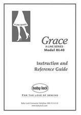 Baby Lock Grace Bl40A Sewing Instruction Manual