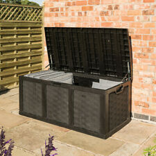 More details for plastic cushion box graphite sit on bench 634 litres