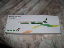 EVA AIR Boeing 777-300ER Scale 1:200 Model Airplane SEALED