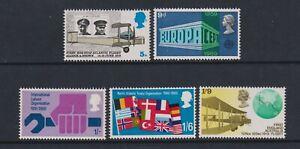Grande-Bretagne / GB - 1969, Anniversaire Événements Ensemble - MNH - Sg 791/5