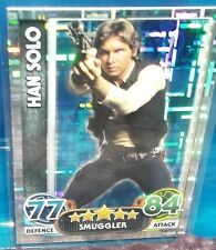 2015 Topps Star Wars Attax Han Solo SP Cracked Ice Foil #195 Force Awakens NM-MT