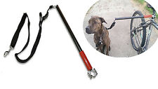 Long elastic black cord (17.9 inch) Dog Lead Bike Cycling Jogging Dog Leash safe
