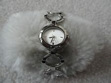 New Avon Silvertone Circle Quartz Ladies Watch