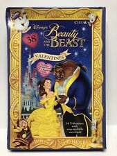Cleo Beauty and the Beast Valentine Cards Set Of 38 Sealed Disney