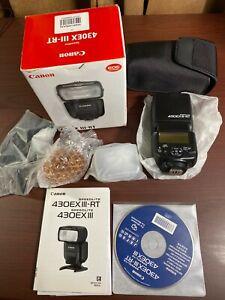 Canon Speedlite 430EX III-RT Camera Flash - mint, used once