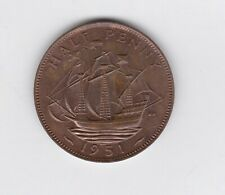 More details for proof 1951 george vi half penny in near mint condition.