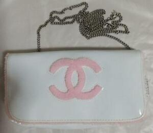 CHANEL Novelty Mini Bag Pink WHITE kawaii Pouch RARE Novelty