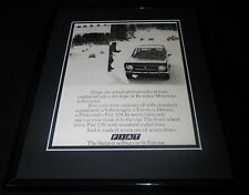 1973 Fiat 128 Framed 11x14 ORIGINAL Vintage Advertisement