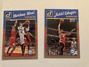Lot de 2 NBA Panini Donruss Philadelphia 76Ers 2026/17