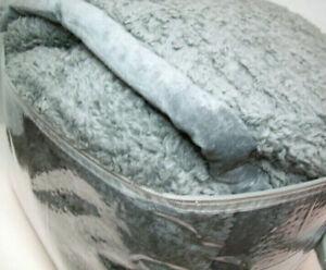 WoolRich Burlington Berber Texture Plush Velvety Binding Gray King Blanket New