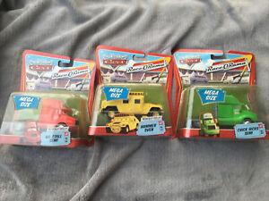Disney Pixar Cars Hummer Sven RaceORama series Deluxe Mega Size + Chick No Stall