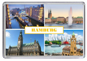 Hamburg Germany Fridge Magnet 02
